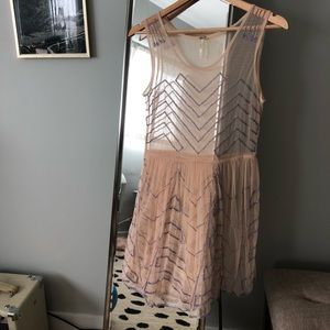 Free people sheer embroidered dress/tunic